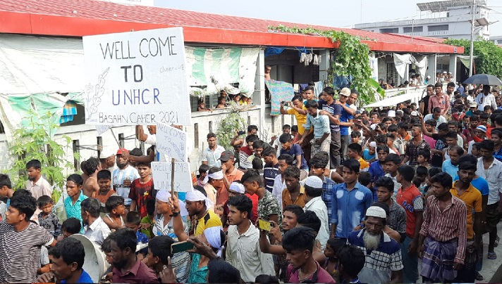 Rohingyas overjoyed at UN arrival in Bhasan Char