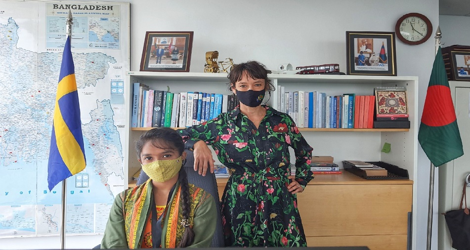 Teen takes over Swedish Embassy in Bangladesh for a Day