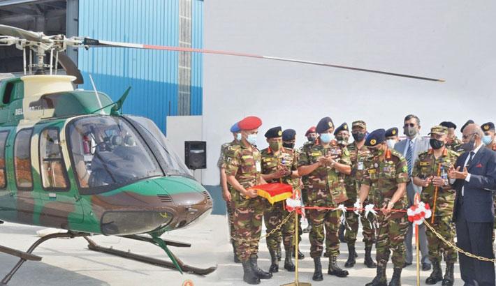 Army chief inaugurates Army Aviation Forward Base in Ctg