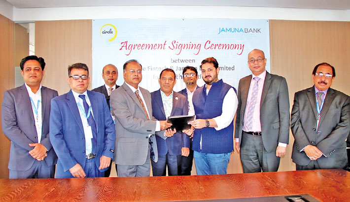 Jamuna Bank, Circle Fintech ink deal