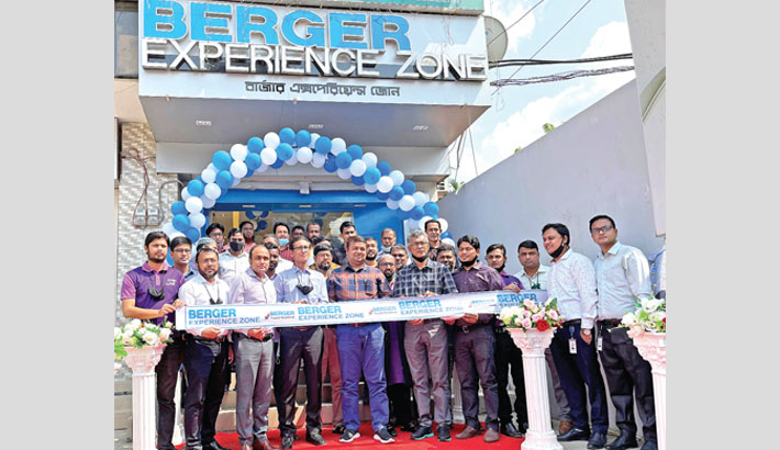 Berger Paints Bangladesh Head Project Shabbir Ahmed inaugurates an outlet of the company at Maijdee in Noakhali recently.