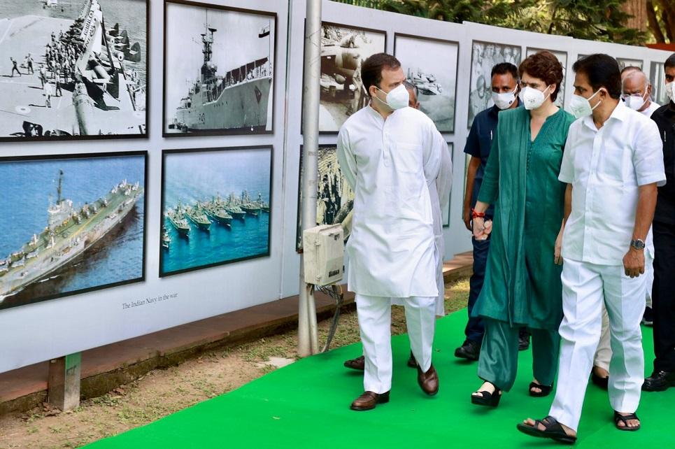 Rahul, Priyanka inaugurate photo exhibition on Bangladesh liberation war