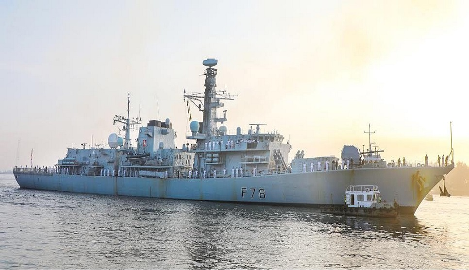 UK warship HMS Kent arrives at Chattogram Port on friendly visit