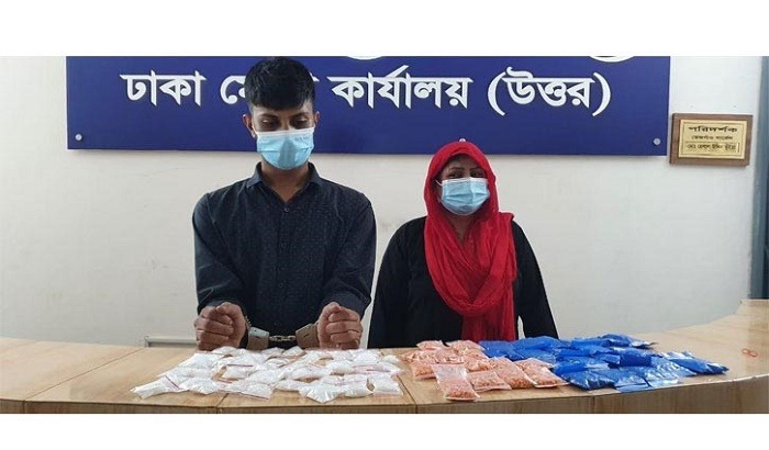 Man, mother-in-law held with ice, yaba in city's Dhanmondi