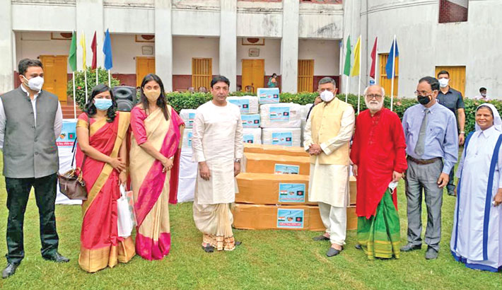 Kumudini Hospital gets ambulance, medical supplies as gift from India