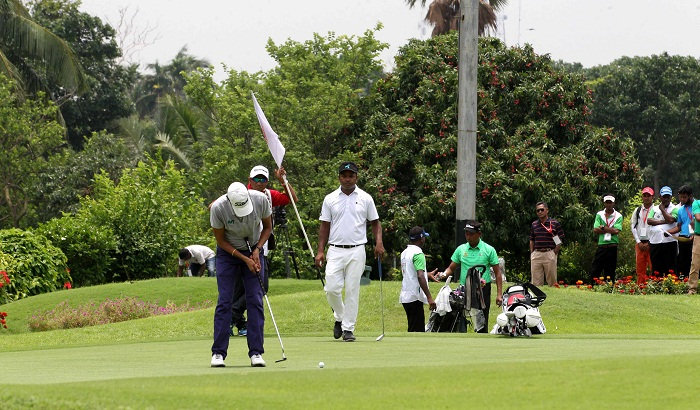 Indian contestant DIgvijay Singh in Bashundhara Bangladesh open