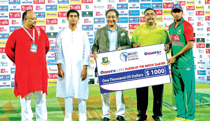 Man of the Match prize money to Soumya Sarkar   2015-07-30