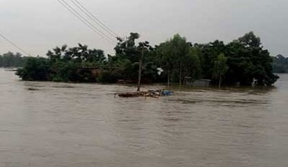 <p>Flood situation improves in Gaibandha</p>