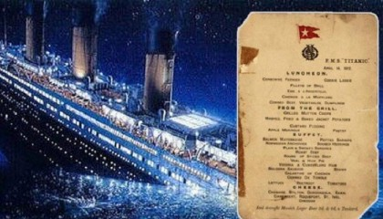 Titanic's last menu up for auction, expected to fetch $70000