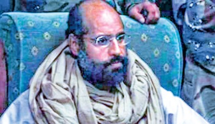 <p>Gaddafi&rsquo;s son, eight others sentenced to death</p>
