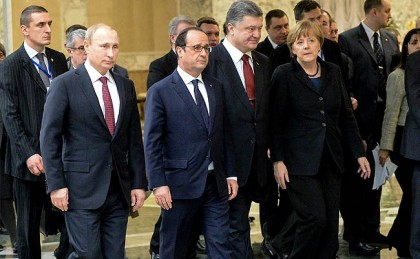 Francois Hollande, Angela Merkel, Vladimir Putin call for fresh summit on Ukraine