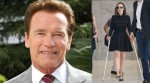 Clarke injured hip 'break dancing' with Schwarzenegger