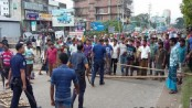 Auto-rickshaw operators stage demonstration on Dhaka-M'singh highway