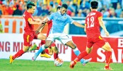 Sterling hits double in friendly rout
